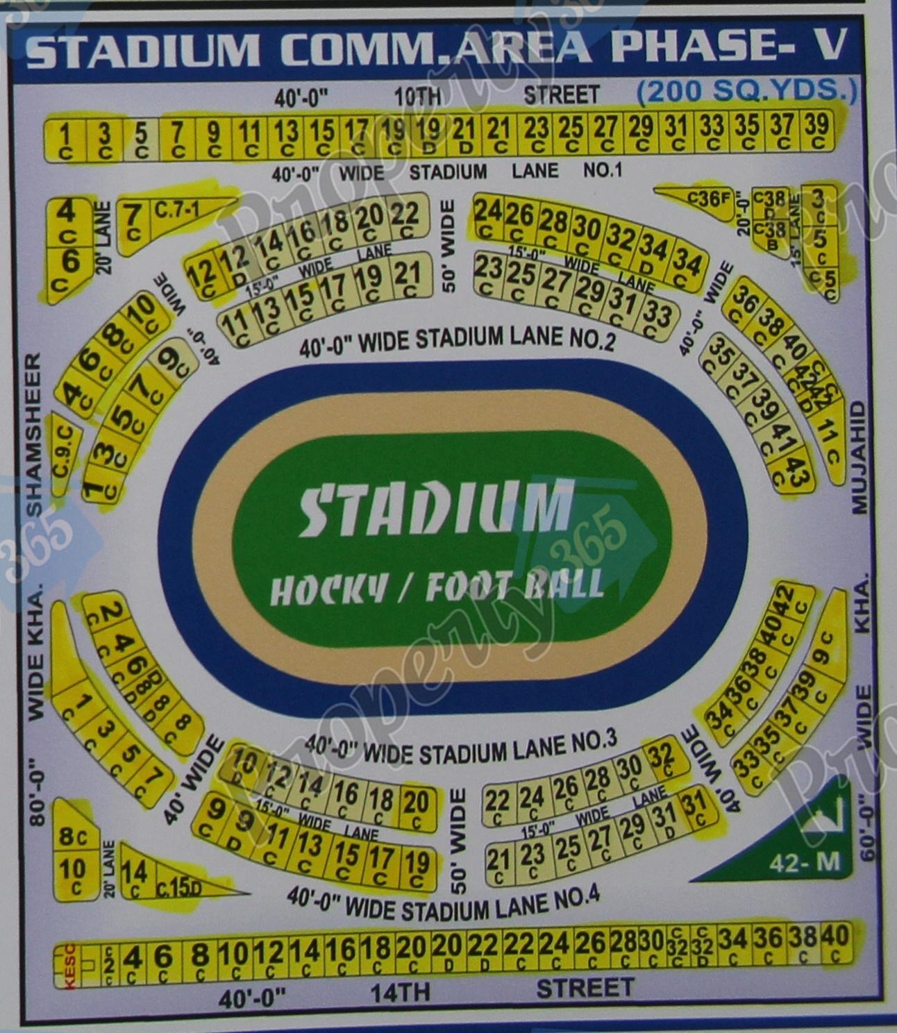 Stadium Commercial Area Phase 5, V , Delton Map