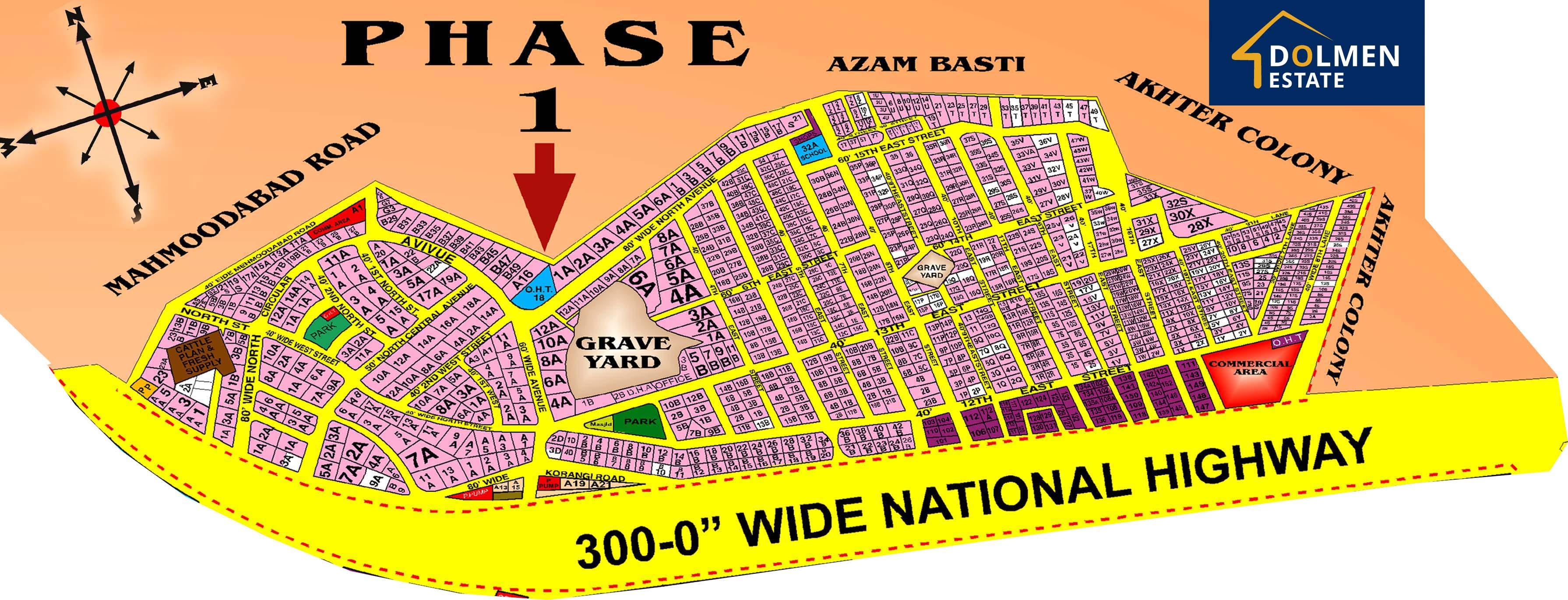 DHA-Karachi-Phase-1-Phase-I-Map