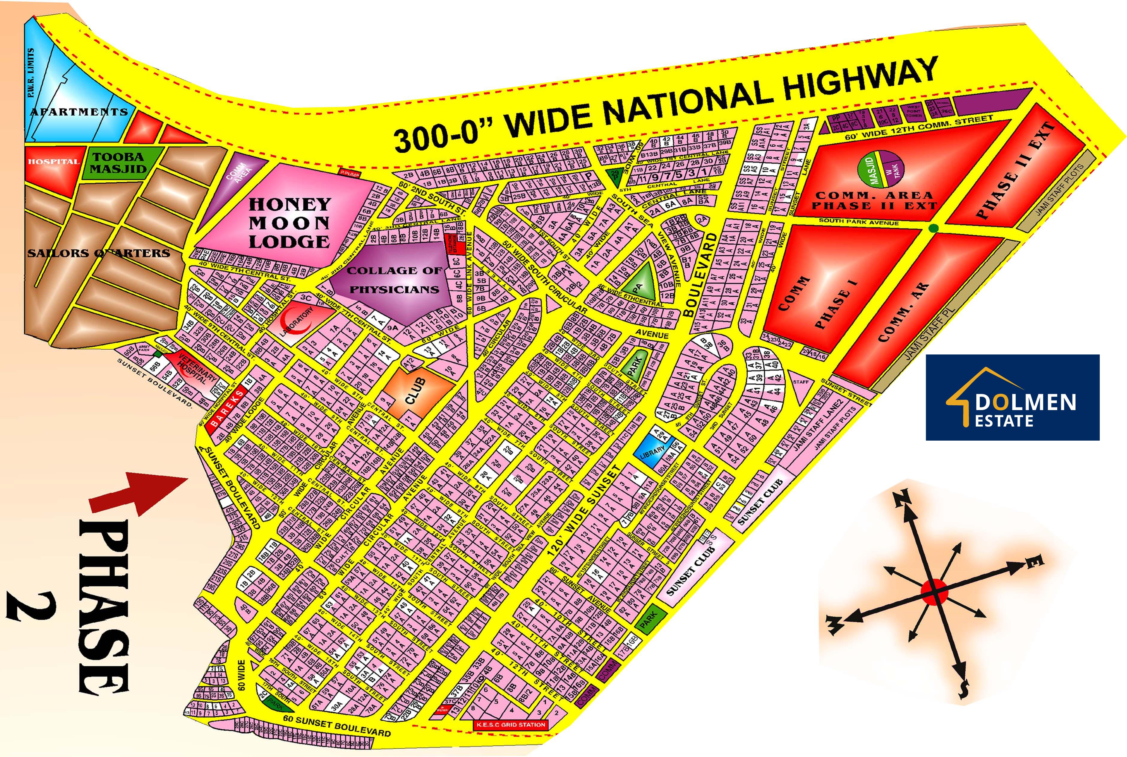 DHA-Karachi-Phase-2-Phase-II-Map