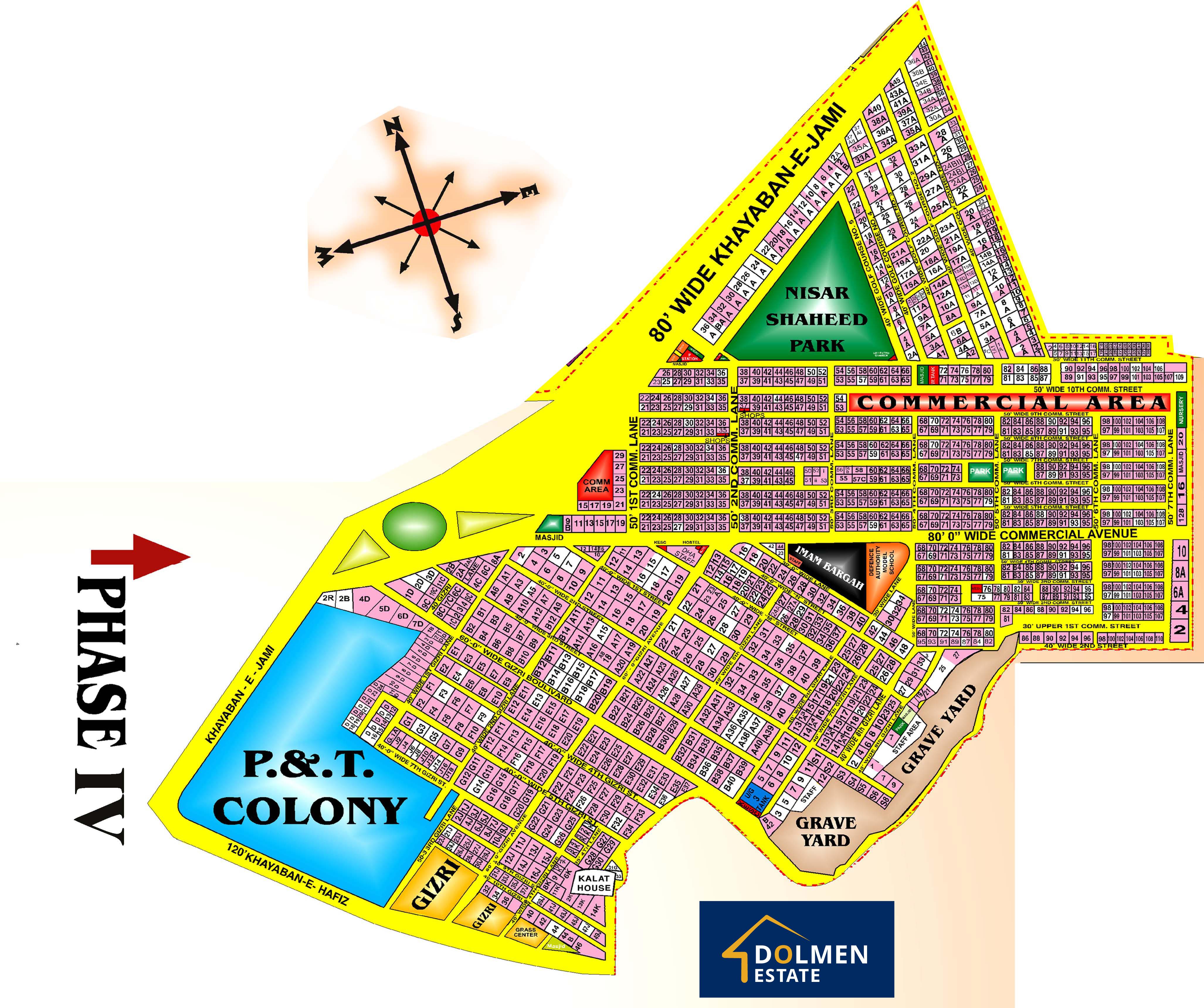 DHA-Karachi-Phase-4-Phase-IV-Map