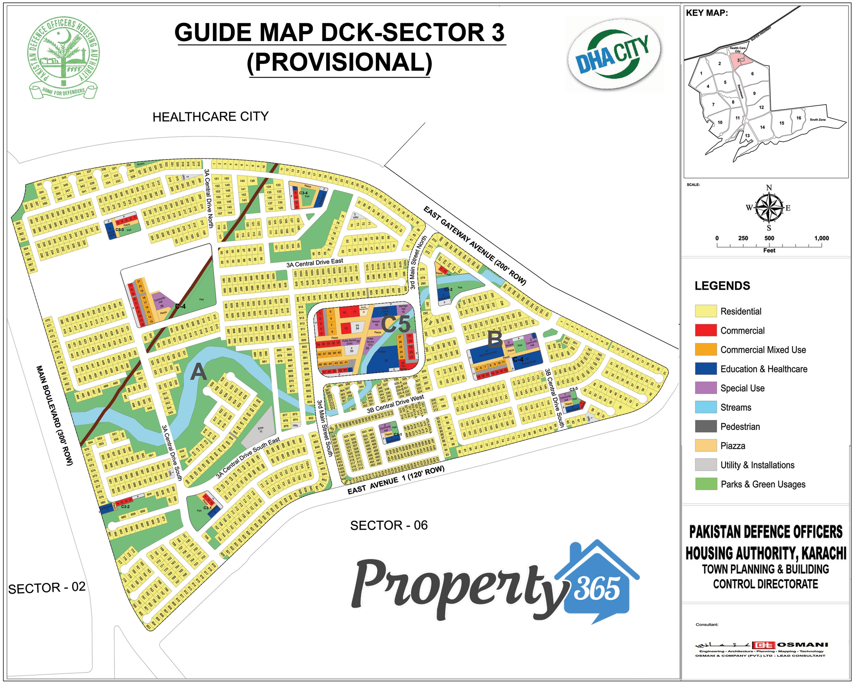DHA City Karachi Sector 3 Plot Number Map | Property 365